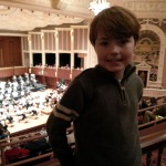 Munchkin at his first symphony concert, March 2014