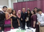 Some of my students (and new friends) from Morocco and Syria, at their awards dinner, July '14.