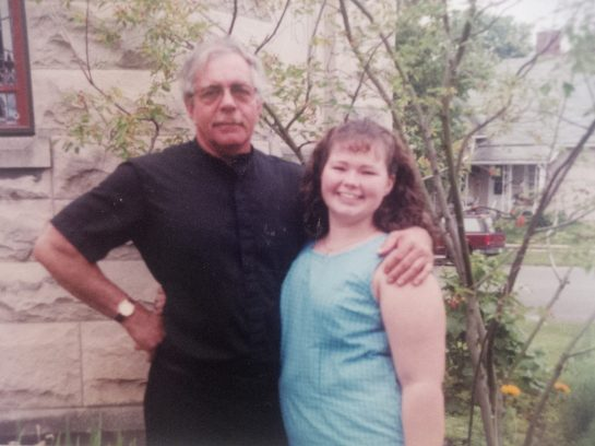 Me & Father Ron, when I graduated from high school. May 1999